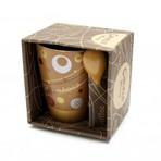 Caneca em Porcelana com Colher para Capuccino Latte Wincy - R$ 18,50