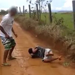 Violência -   Vídeo do jovem que foi executado em Goiás