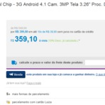 Magazine Luiza - Smartphone Samsung Galaxy Young Plus TV Dual Chip R$ 359,10