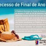 Fim de Ano - Recesso - Prefeitura de Pontal do Paraná