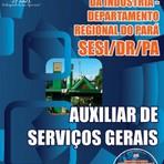 Apostila Concurso SESI-PA, Auxiliar de Serviços Gerais, 92 vagas