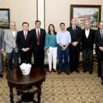 Flávio Dino, governador eleito do Maranhão,visita Pernambuco a convite do governador João Lyra.