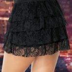 Mini saias de renda