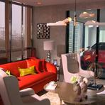 Torre de apartamentos de luxo tem garagens suspensas