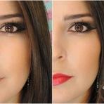 Mulher - Uma maquiagem, dois batons com kit de sobrancelha #tutorial