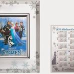 Calendário de Frozen no Japão, custa R$ 2 milhões