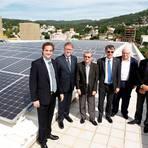 Embaixador visita Usina solar financiada pela Alemanha em Florianópolis