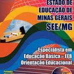 Apostila para o concurso da SEE MG Cargo - Especialista Em Educação Básica – Eeb – Orientação Educacional