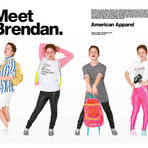 "Brendan Jordan ""diva boy"" vira modelo do American Apparel"