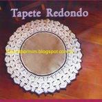 Hobbies - Tapete Redondo de Sisal com Barra de Crochê
