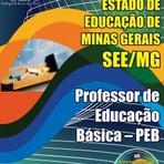Apostila para o concurso da SEE MG Cargo - Professor De Educação Básica – Peb – comum A Todos Os Cargos