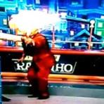 Luiz Ricardo se queima ao vivo no programa do ratinho