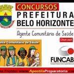 Apostila Concurso Prefeitura de BH - Belo Horizonte - MG para cargo de Agente Comunitário de Saúde (Minas Gerais)