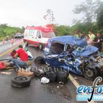 Tragédia na BR 421 deixa quatro vítimas fatais