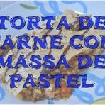 Torta de Carne com massa de Pastel