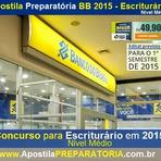 Apostila Preparatória - Banco do Brasil 2015 - ESCRITURÁRIO (BB) - Vagas Nível Médio - Compre já a sua!