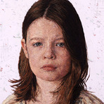 Retratos bordados a mão que parecem pinturas
