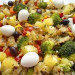 Bacalhau com Legumes receita Jogo de Panelas Mais Você 17/12/2014