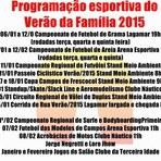 Programação Oficial Esportiva do Verão 2015.