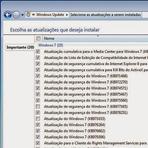 Remover atualizações do Windows