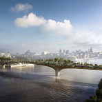 Ponte com jardim vai cortar rio Tâmisa em Londres
