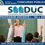 SEEDUC-RJ abre Concurso para Professor Docente I - 16h e 30h