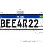 Carros e motos terão novas placas no Brasil em 2016