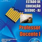 Apostila Digital Concurso Secretaria de Estado de Educação do Rio de Janeiro - SEEDUC - RJ Professor Docente I