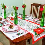 Arquitetura e decoração - prática para a mesa de natal ...!...