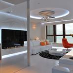 Apartamento moderno super luminoso de frente para o mar