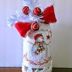 Linda Decoração de Natal Feita com Potes de Vidro!