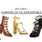 Sandálias gladiadoras de salto alto