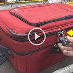 Alerta  - Mala de viagem segura Travada ou Destravada