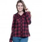 Camisa xadrez feminina