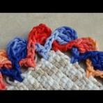 Passo a passo Barrado/Bico em crochê - em duas cores diferentes de linha!