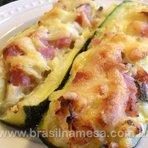 Receita Abobrinha Light com Palmito, Presunto e Queijo | Receitas - Dietas - Dicas de Cozinha - Brasil na Mesa