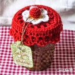 Hobbies - Tampas Para Potes Feitas em Crochê