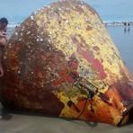 Objeto não identificado foi encontrado em uma praia de São Paulo