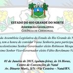Assembleia Legislativa emitiu os convites para a posse do governador Robinson Faria