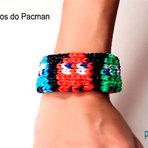 Como fazer pulseiras de elásticos do Pacman