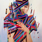 Pinturas abstratas coloridas de Erik Jones