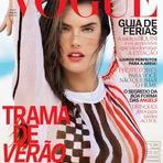 Alessandra Ambrosio na edição de janeiro da Vogue Brasil