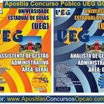 Concursos Públicos - Apostila Universidade Estadual de Goiás/UEG - Área Geral:Assistente de Gestão Administrativa. Grátis CD Rom. Matérias