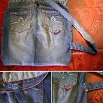 Mochila feita de calça jeans reciclada com passo à passo