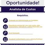 Vagas - Oportunidade de Analista de Custos - ES