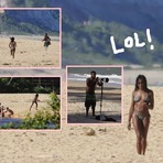 Naomi Campbell persegue paparazzo na Bahia