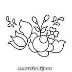 Pintura - Riscos Pintura em Tecido: Flores