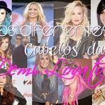 Os diferentes cabelos da Demi Lovato