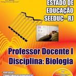 Apostila para o concurso do SEEDUC RJ Cargo - Professor Docente I – Disciplina: Biologia