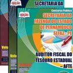 Apostila Concurso SEFAZ-PE 2015 - Auditor Fiscal do Tesouro Estadual  AFTE/Secretaria da Fazenda do Estado de Pernambuco